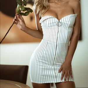 Sexy zip up dress
